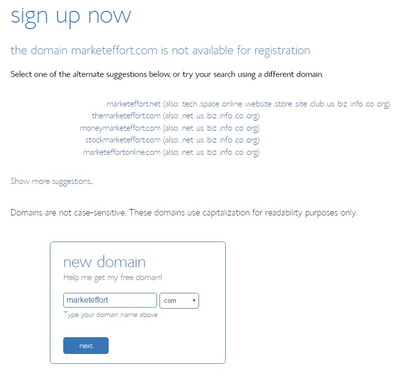 domain-not -available